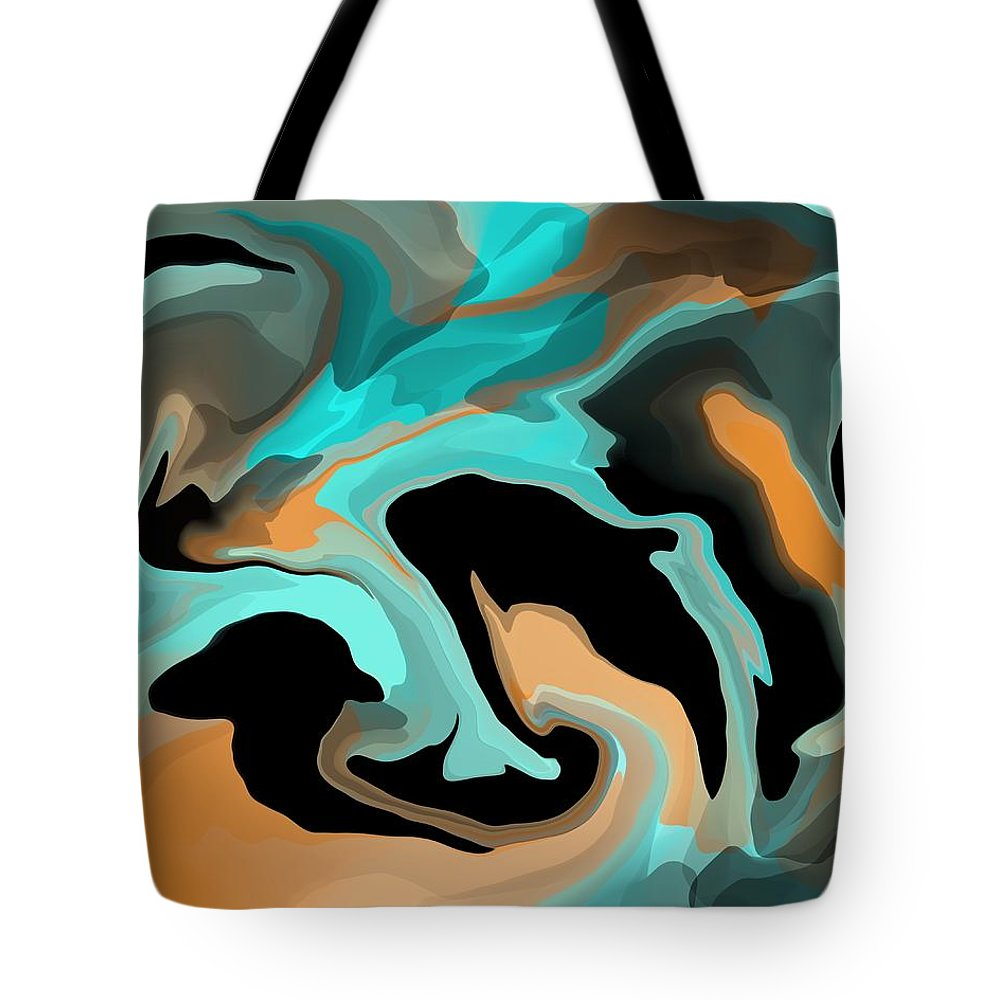 Colors Tote Bag featuring the mixed media Abstract Colors by Lisa Stanley
