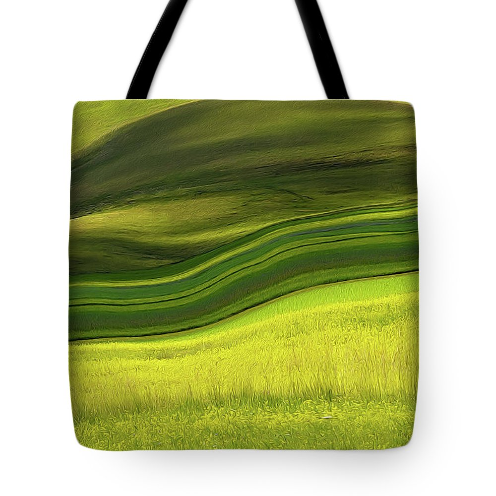 Scenics Tote Bag featuring the photograph Abstract Landscape by Edoardogobattoni.net