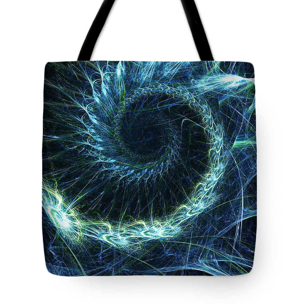 Curve Tote Bag featuring the photograph Abstract Swirl Pattern by Duncan1890