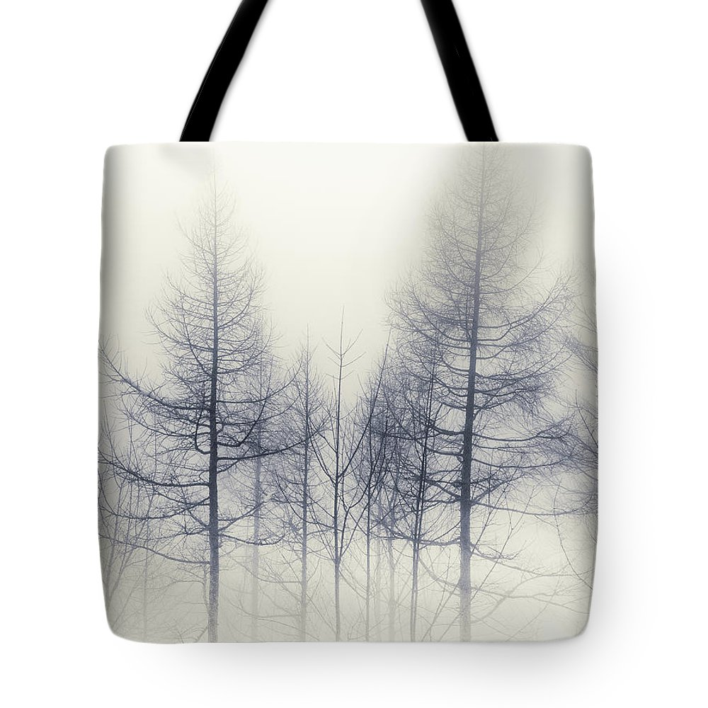 Tranquility Tote Bag featuring the photograph Abstract Trees In Winter by Inhiu All Rights Reserved