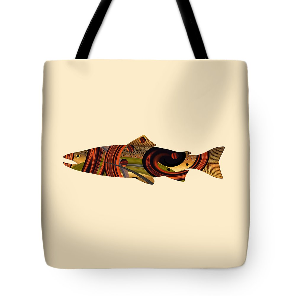 Abstract Tote Bag featuring the photograph Abstract Trout by Whispering Peaks Photography