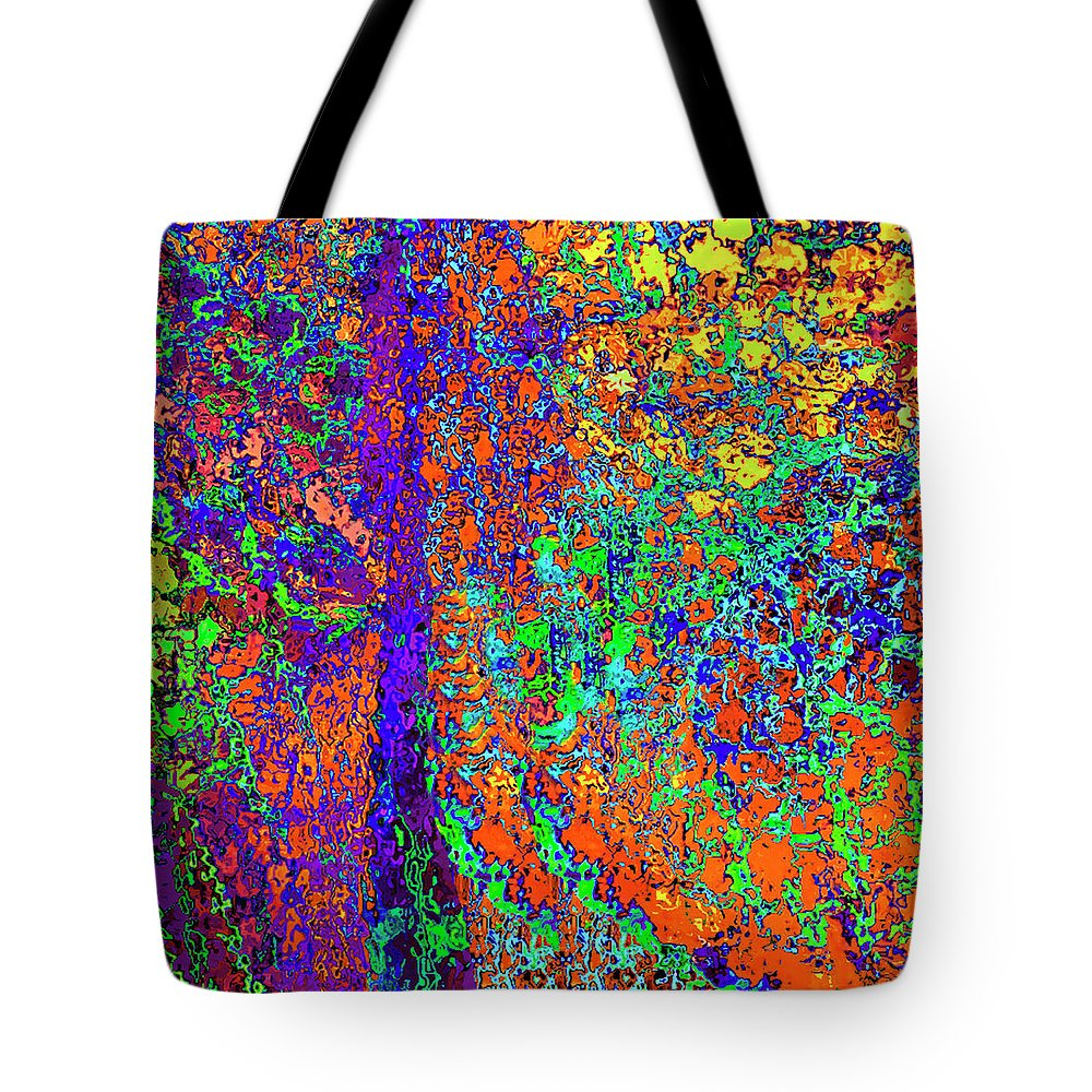 Tote Bag featuring the digital art Abstract Visions I by Rafael Serur