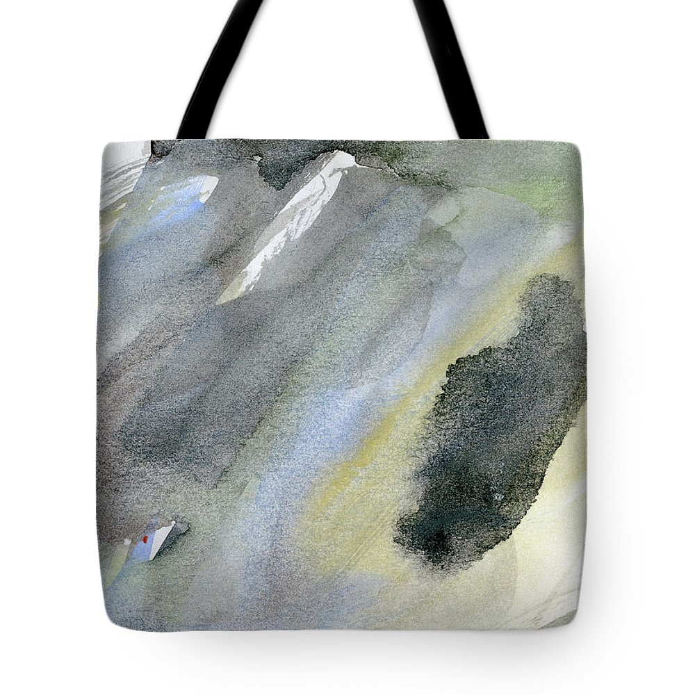 Gouache Tote Bag featuring the digital art Abstract Watercolor Painted by Petekarici