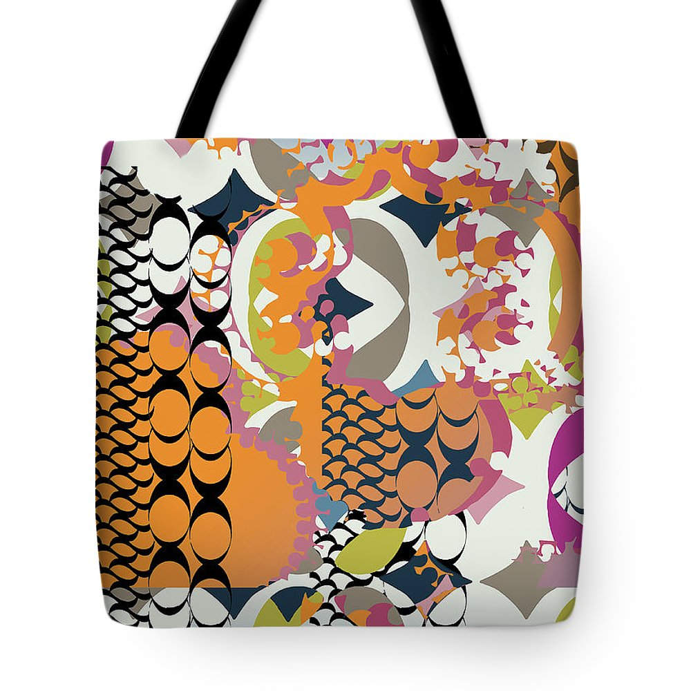 Orange Tote Bag featuring the digital art Acorns by Ceil Diskin