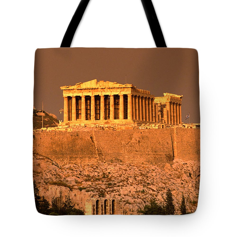 Greek Culture Tote Bag featuring the photograph Acropolis And Parthenon From Filopappou by Lonely Planet