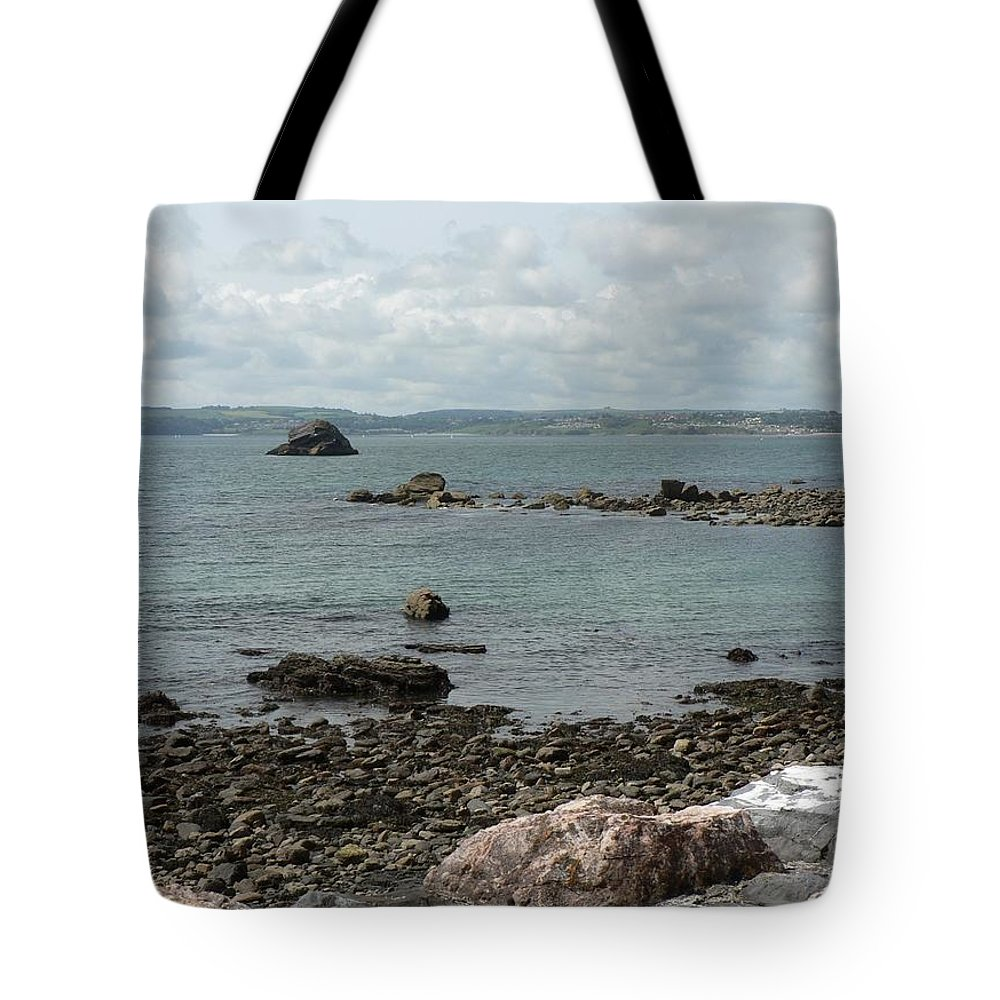 Beach Tote Bag featuring the photograph Across The Bay by Lynne Iddon