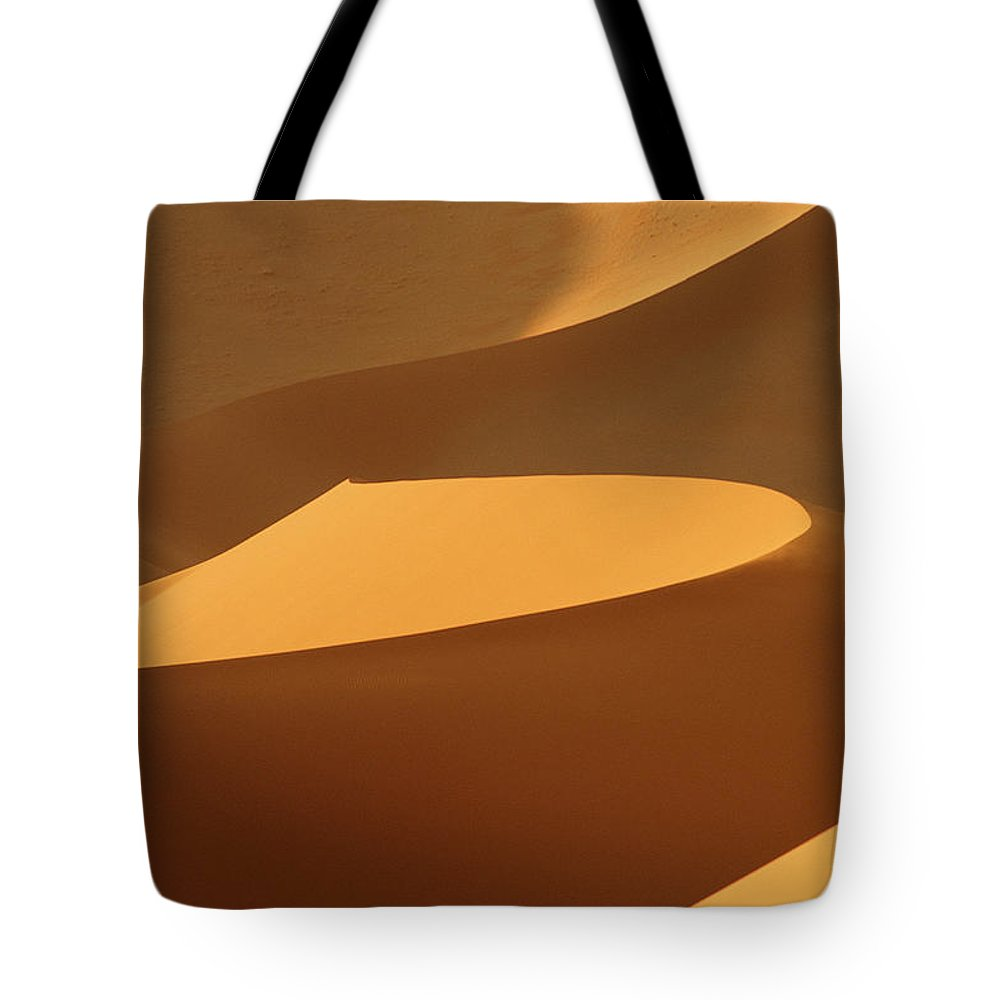 Shadow Tote Bag featuring the photograph Africa, Namibia, Sand Dunes, Full Frame by Peter Adams