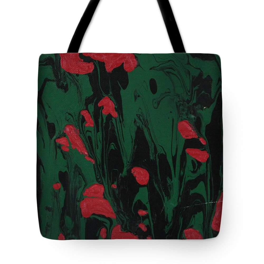 Abstract Tote Bag featuring the painting African Glory by Sonye Locksmith