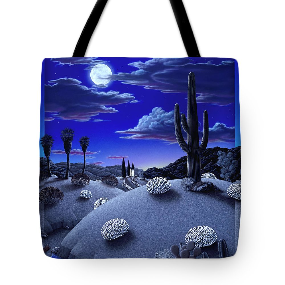 Desert Tote Bag featuring the painting After the Rain by Snake Jagger