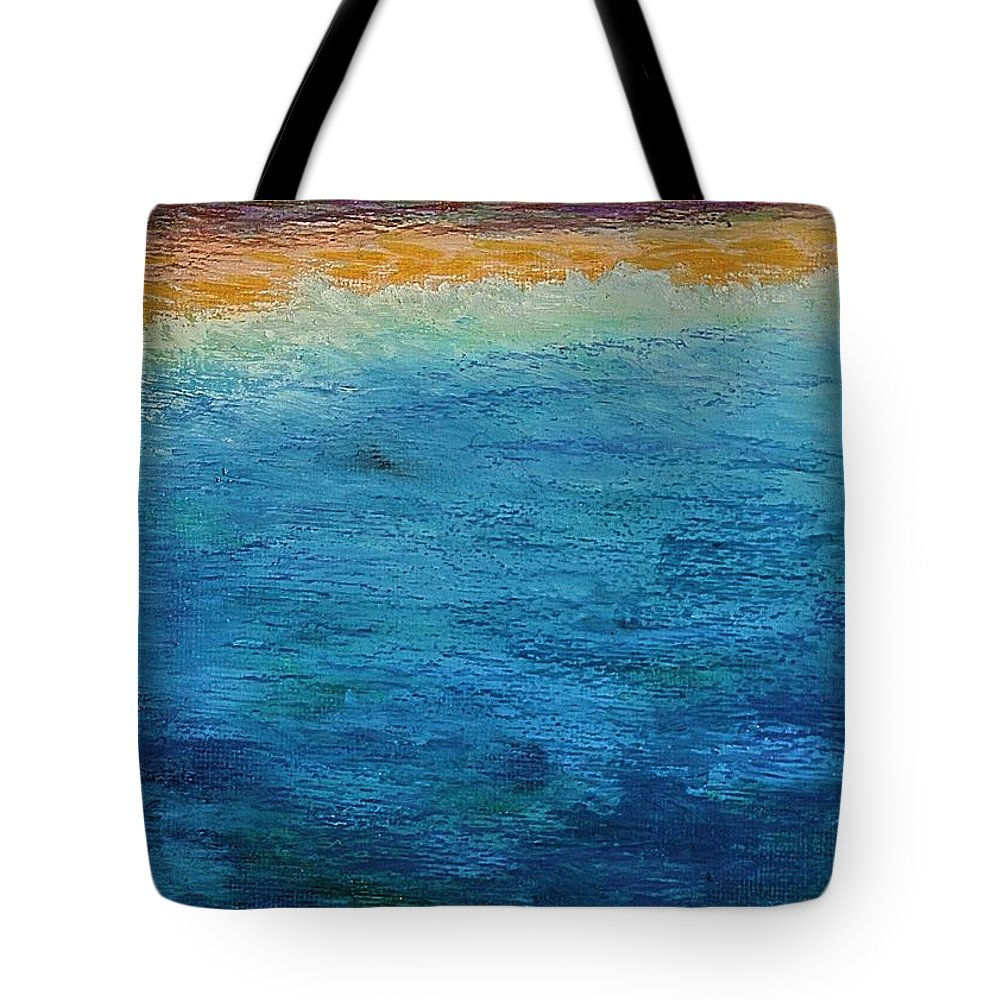 Ocean Tote Bag featuring the painting Aguamarina by Norma Duch