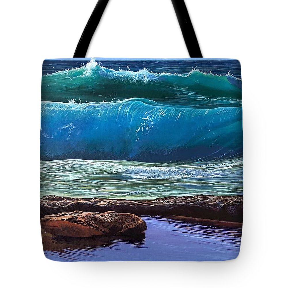 Puerto Vallarta Tote Bag featuring the painting Aguas de Marco by Hunter Jay