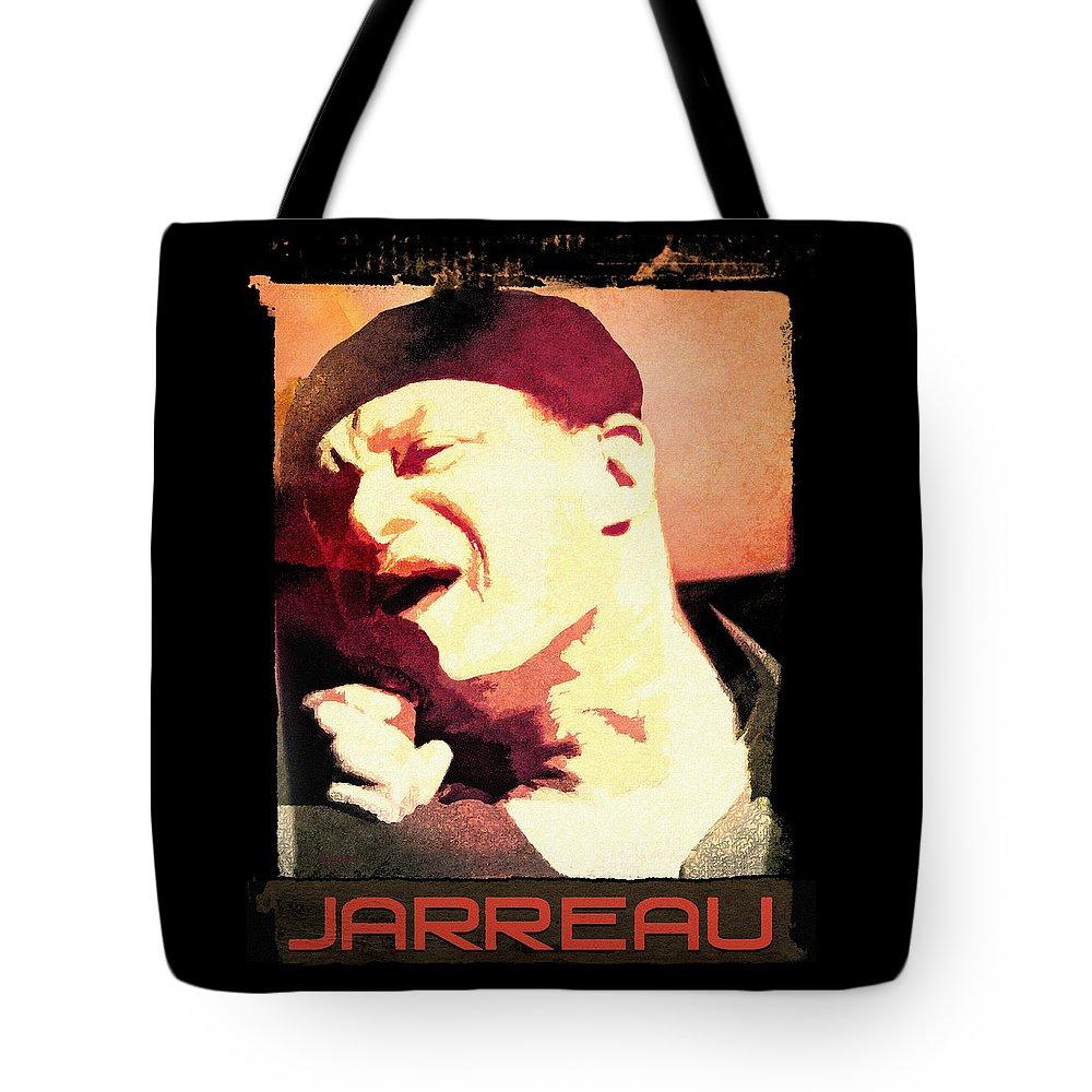 Tote Bag featuring the digital art Al Jarreau by Regina Wyatt