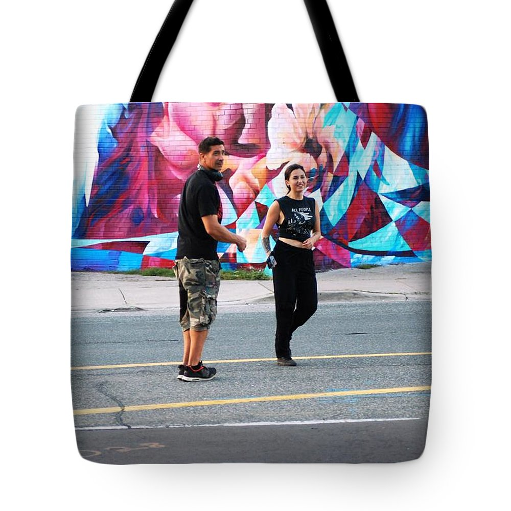 People Tote Bag featuring the photograph Alek And Chris by Ee Photography