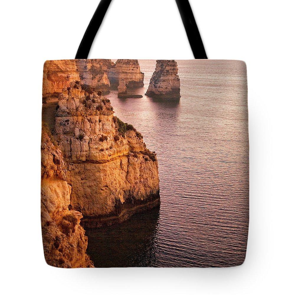 Algarve Tote Bag featuring the photograph Algarve Coastline, Lagos, Portugal by Zu Sanchez Photography