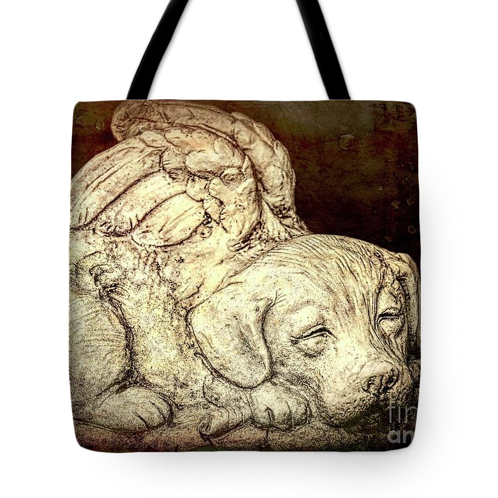 Altered Tote Bag featuring the photograph All Dogs Are Angels by Joe Geraci