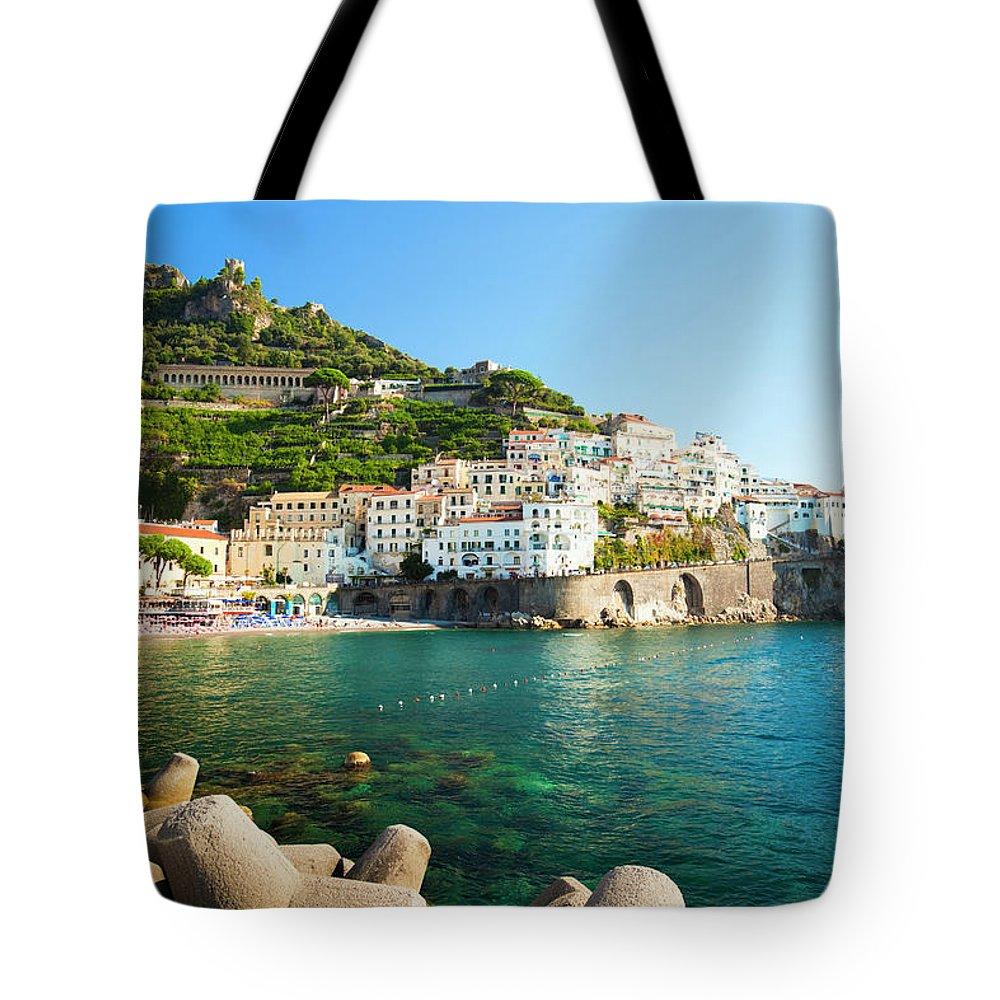 Tyrrhenian Sea Tote Bag featuring the photograph Amalfi Coast, Italy by Brzozowska