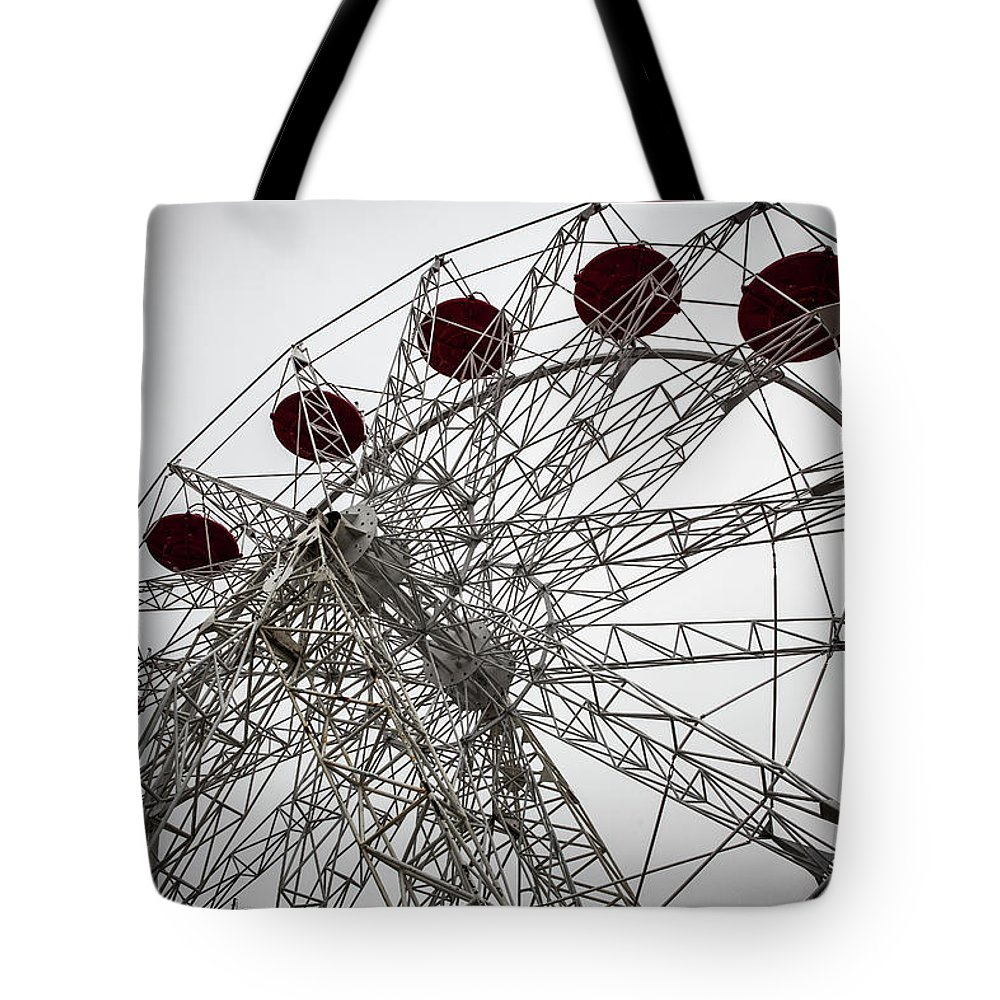 Empty Tote Bag featuring the photograph Amusement Park by Aluma Images