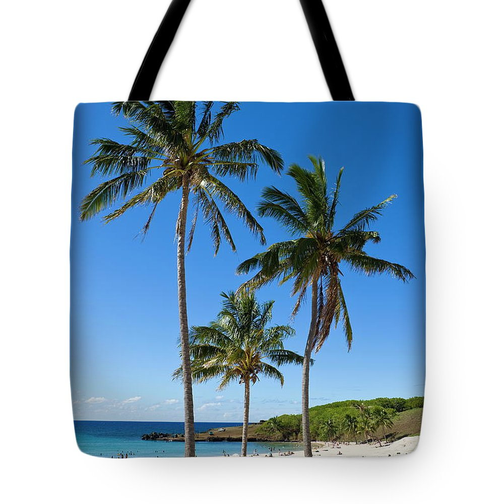 Scenics Tote Bag featuring the photograph Anakena Beach, The Islands White Sand by Gavin Hellier / Robertharding
