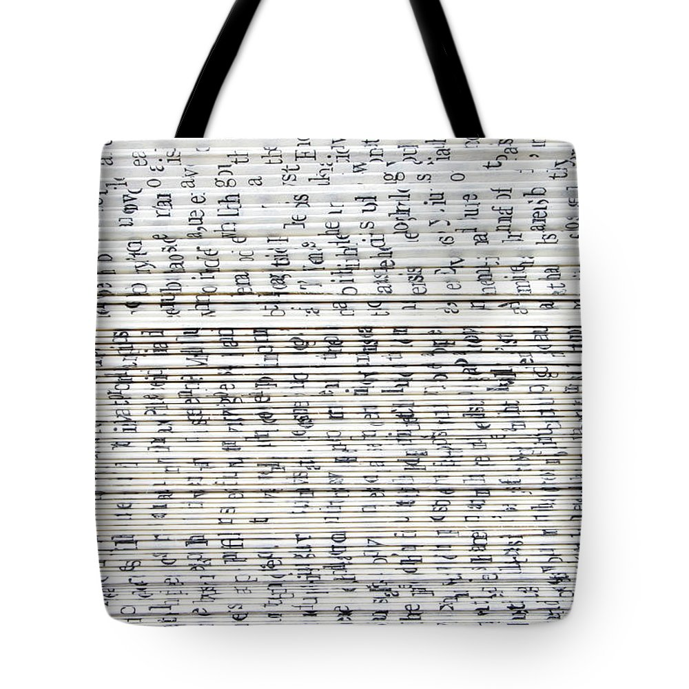 Information Medium Tote Bag featuring the photograph Ancient Paper Book by Valerie Loiseleux