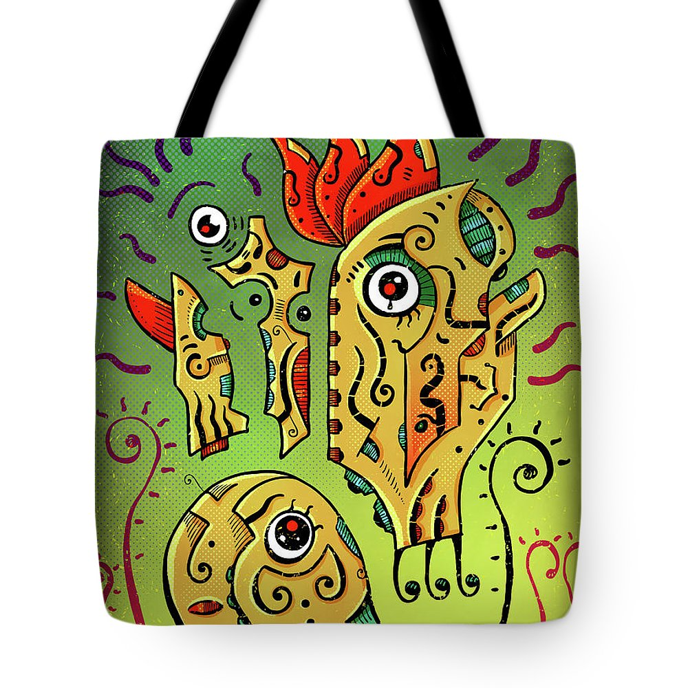 Totoro Tote Bag featuring the digital art Ancient Spirit by Sotuland Art