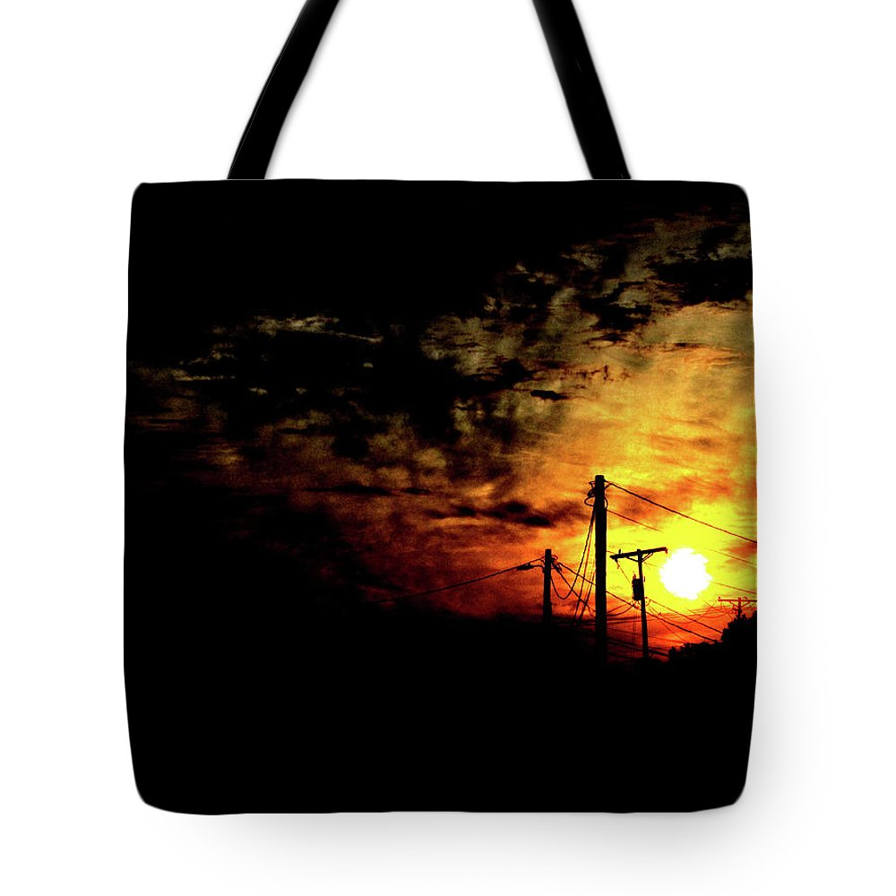 Sunset Tote Bag featuring the photograph And On The Eighth Day by Nicholas Haddox