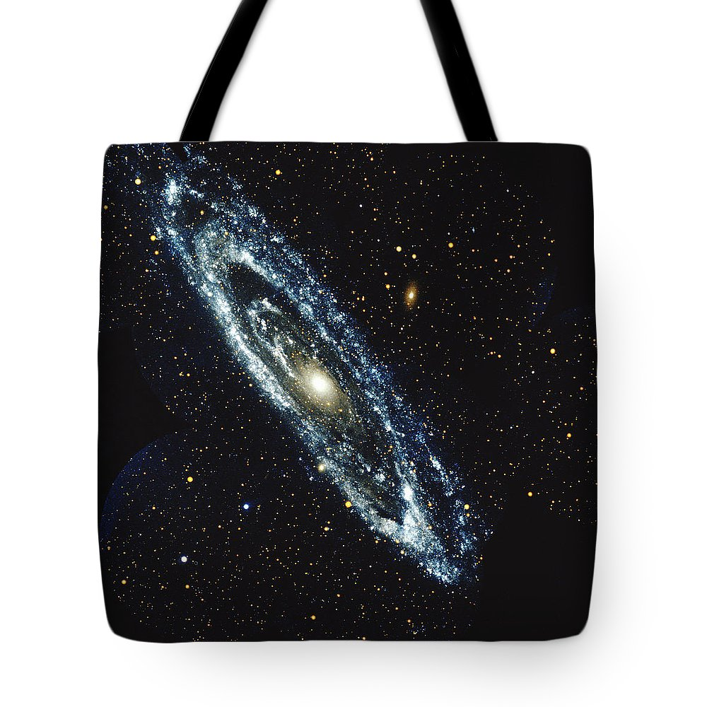 Outdoors Tote Bag featuring the photograph Andromeda Galaxy by Stocktrek