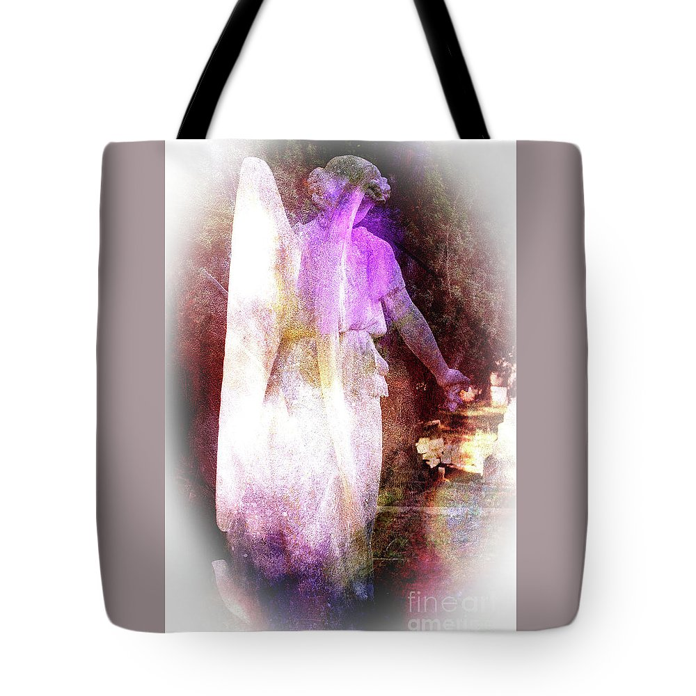 Angel Tote Bag featuring the photograph Angel Ethereal by Elaine MacKenzie