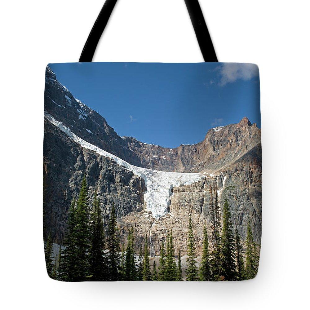 Scenics Tote Bag featuring the photograph Angel Glacier by Jim Julien / Design Pics