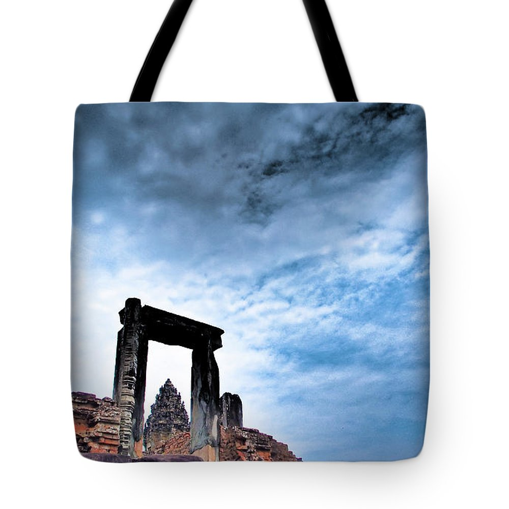 Cambodian Culture Tote Bag featuring the photograph Angkor by Cjfan