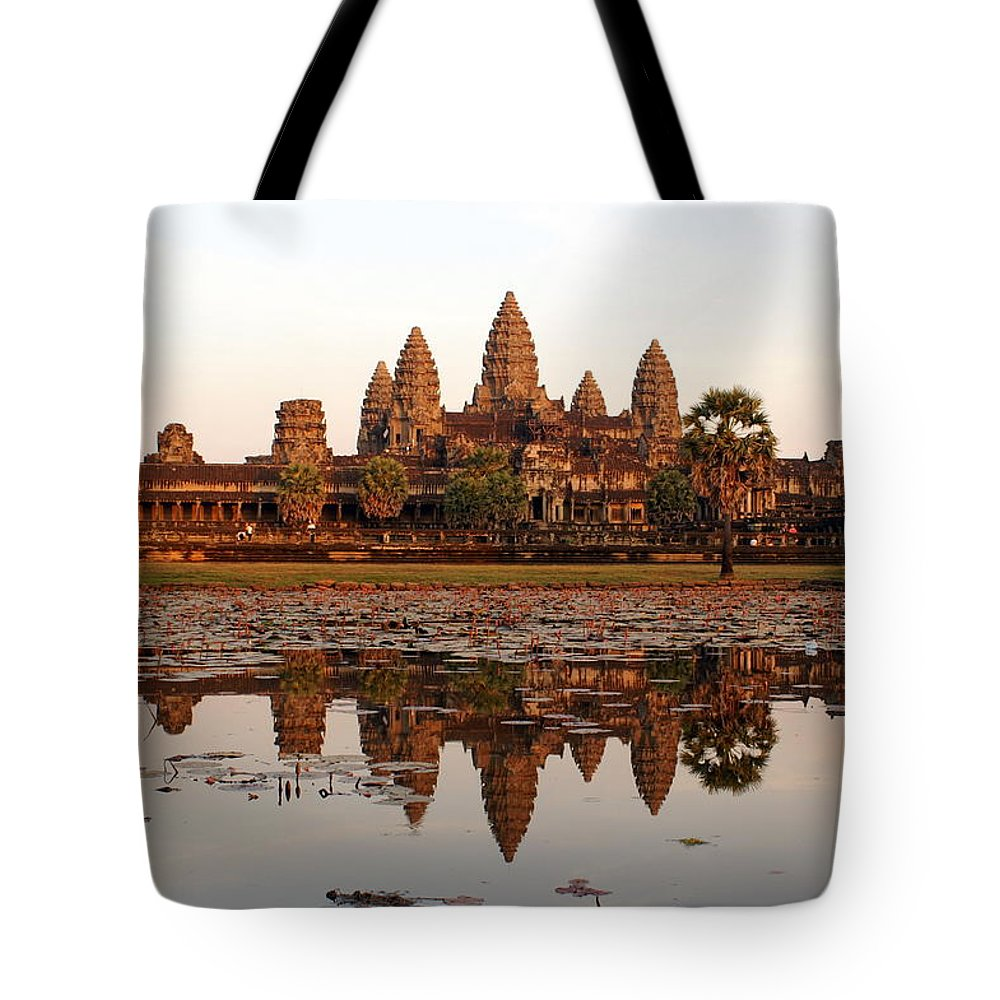 Tranquility Tote Bag featuring the photograph Angkor Wat - Siem Reap - Cambodia by By Lionel Arnould