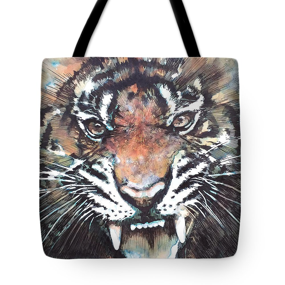 Angry Paintings Tote Bags