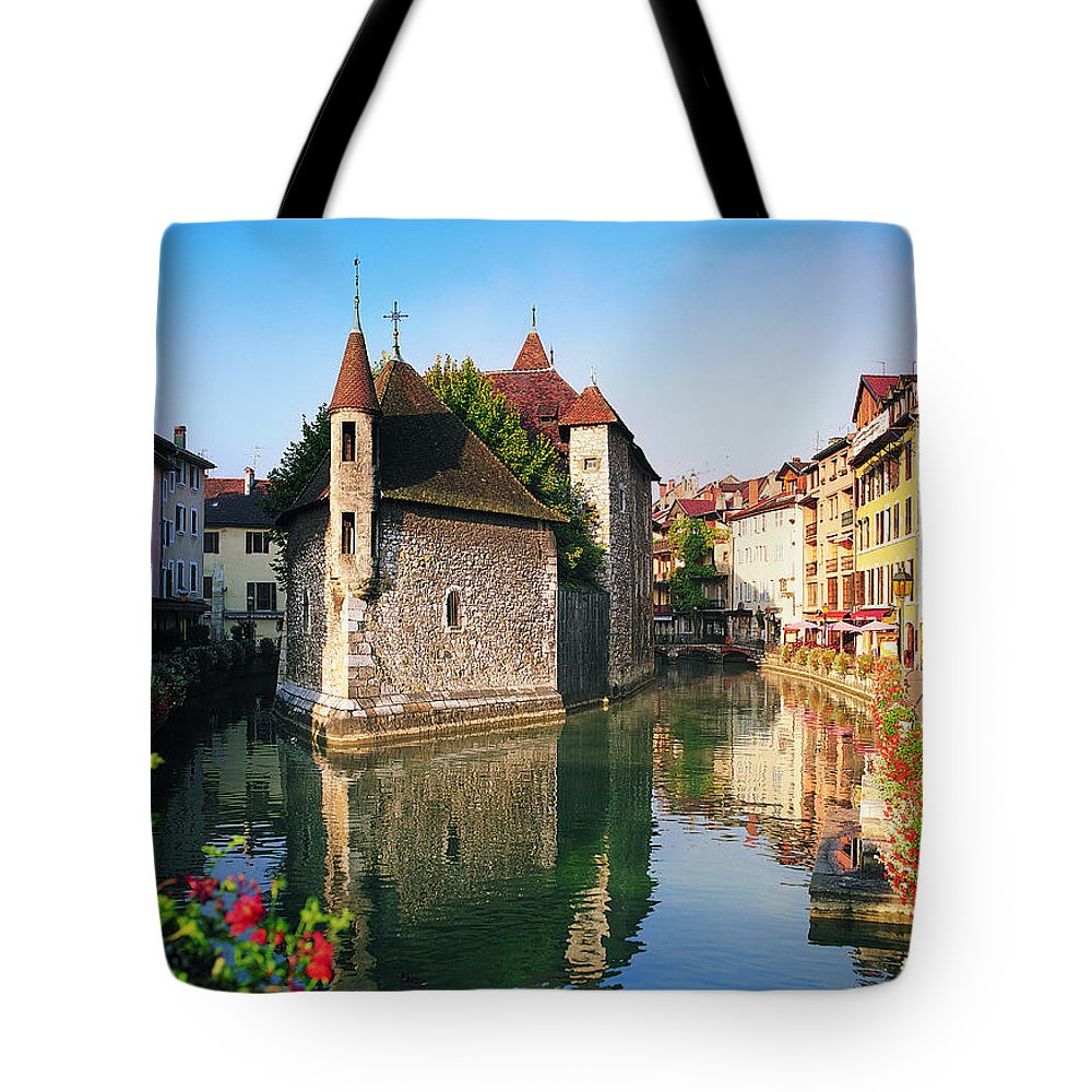 Town Tote Bag featuring the photograph Annecy, Savoie, France by Robertharding