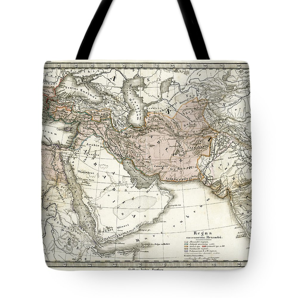 Arabia Tote Bag featuring the digital art Antique Map Of Alexander The Greats by Duncan1890