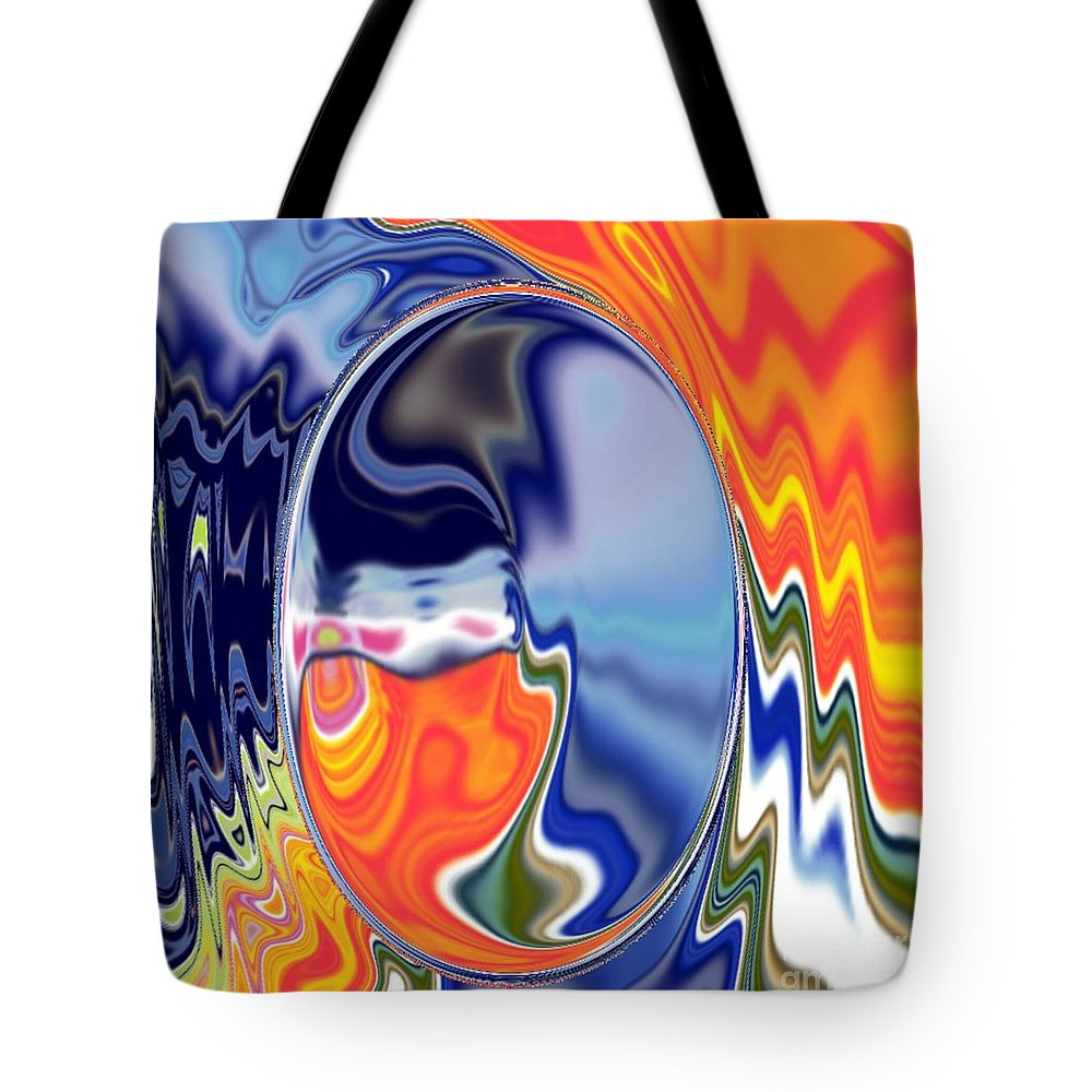 Abstract  Artwork Tote Bag featuring the digital art Ooo by A z akaria Mami