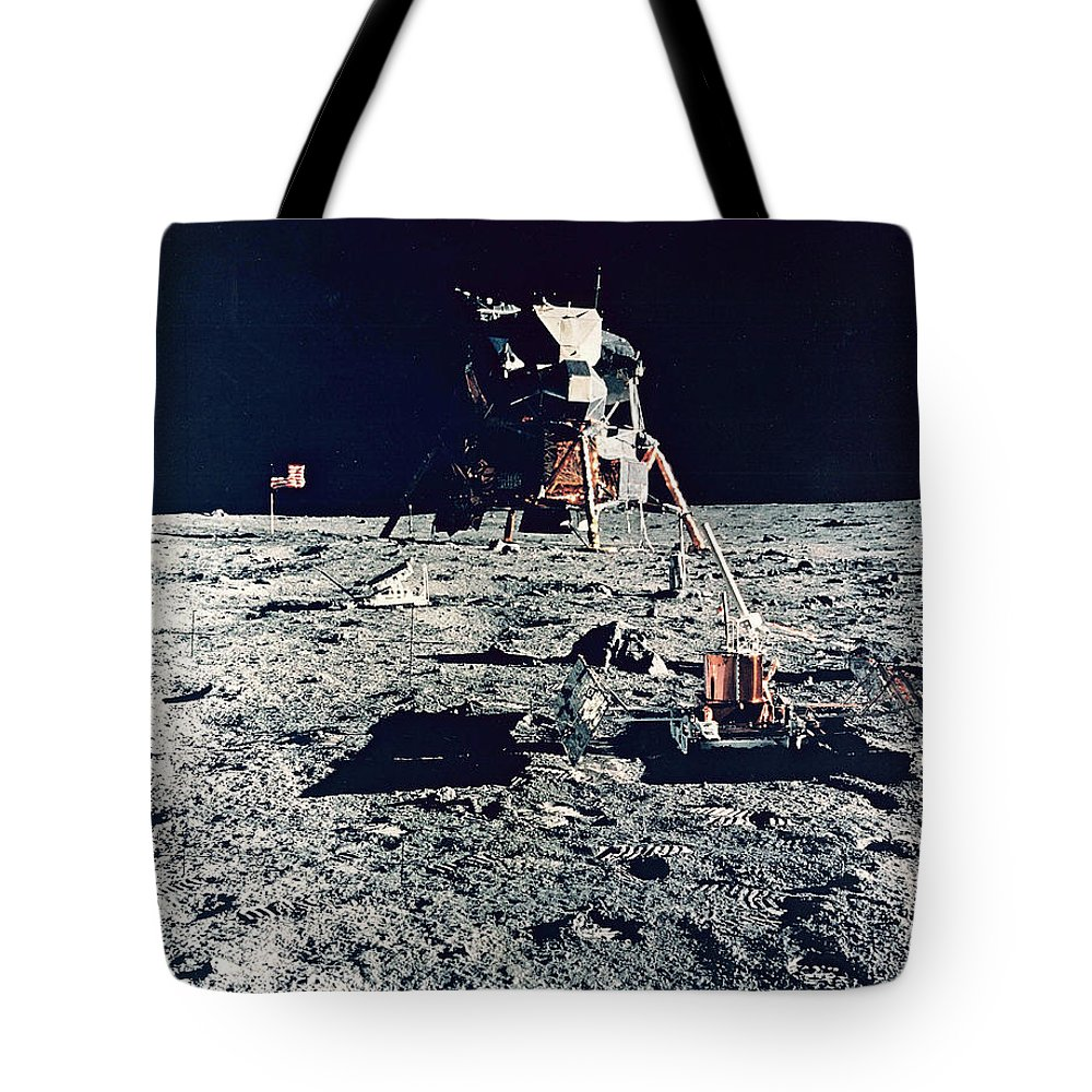 Tranquility Base Tote Bag featuring the photograph Apollo 11, Tranquility Base, 1969 by Science Source