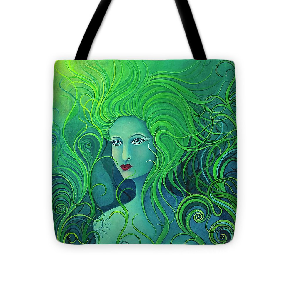 Selkie Tote Bag featuring the painting I See You by KarenElizabeth Balon