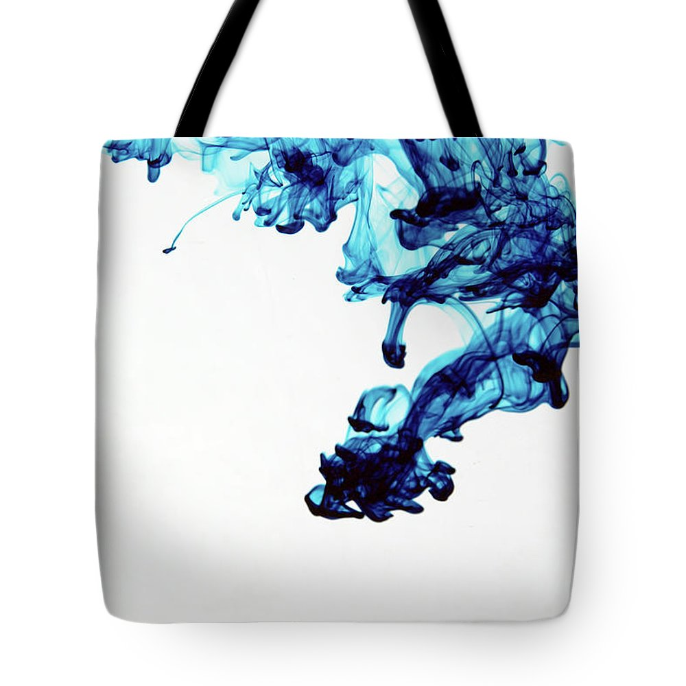 Mixing Tote Bag featuring the photograph Aqua Art 1 Of 5 by Bpalmer
