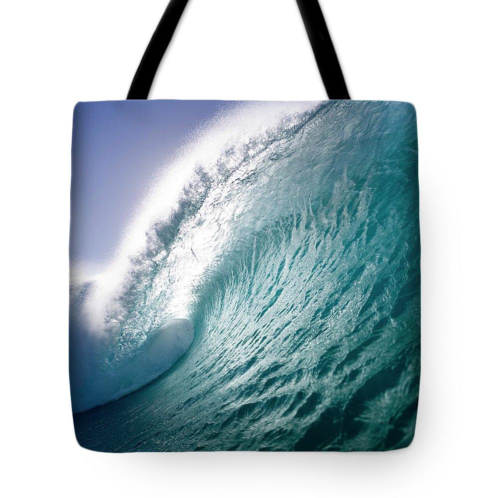 Sea Tote Bag featuring the photograph Aqua Coil by Sean Davey