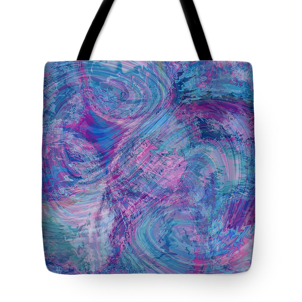 Nonobjective Tote Bag featuring the digital art Aqueous Meditations #01 by James Fryer