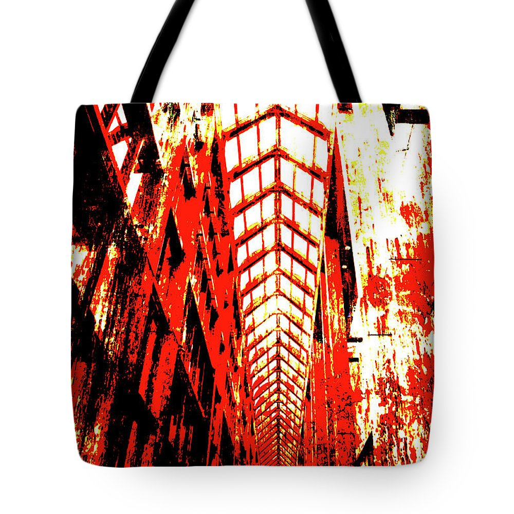 Architecture Tote Bag featuring the digital art Architecture Interior 2 by Alexander Ahilov