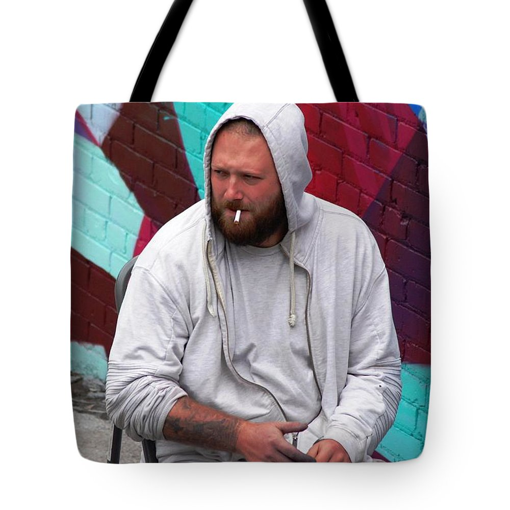 Frown Tote Bag featuring the photograph Artist Frown by Ee Photography