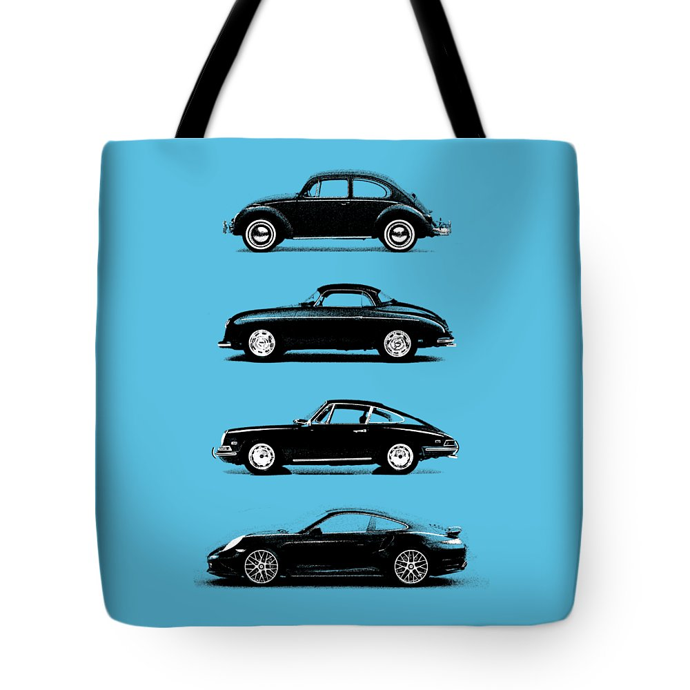 Porsche Tote Bag featuring the photograph Evolution by Mark Rogan