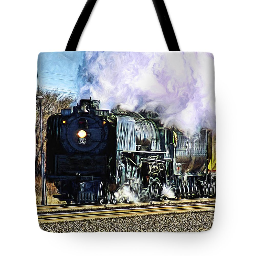 Bill Kesler Photography Tote Bag featuring the photograph Up 844 Movin' On - Artistic by Bill Kesler