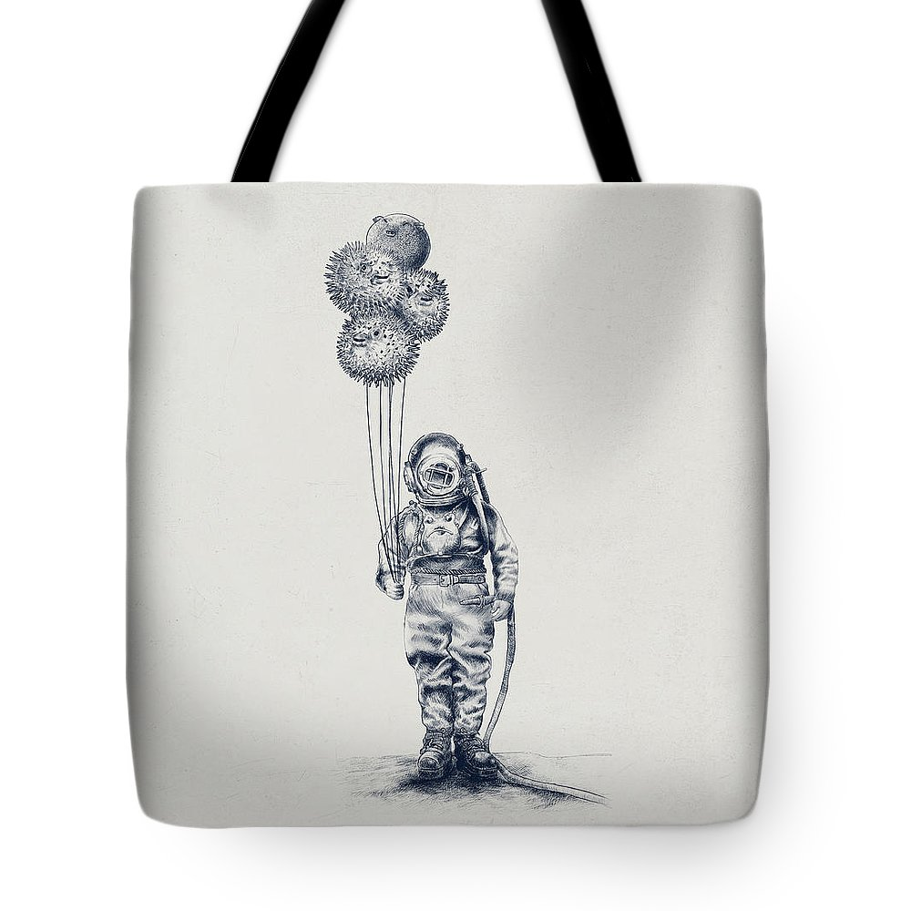 Pen Drawings Tote Bags