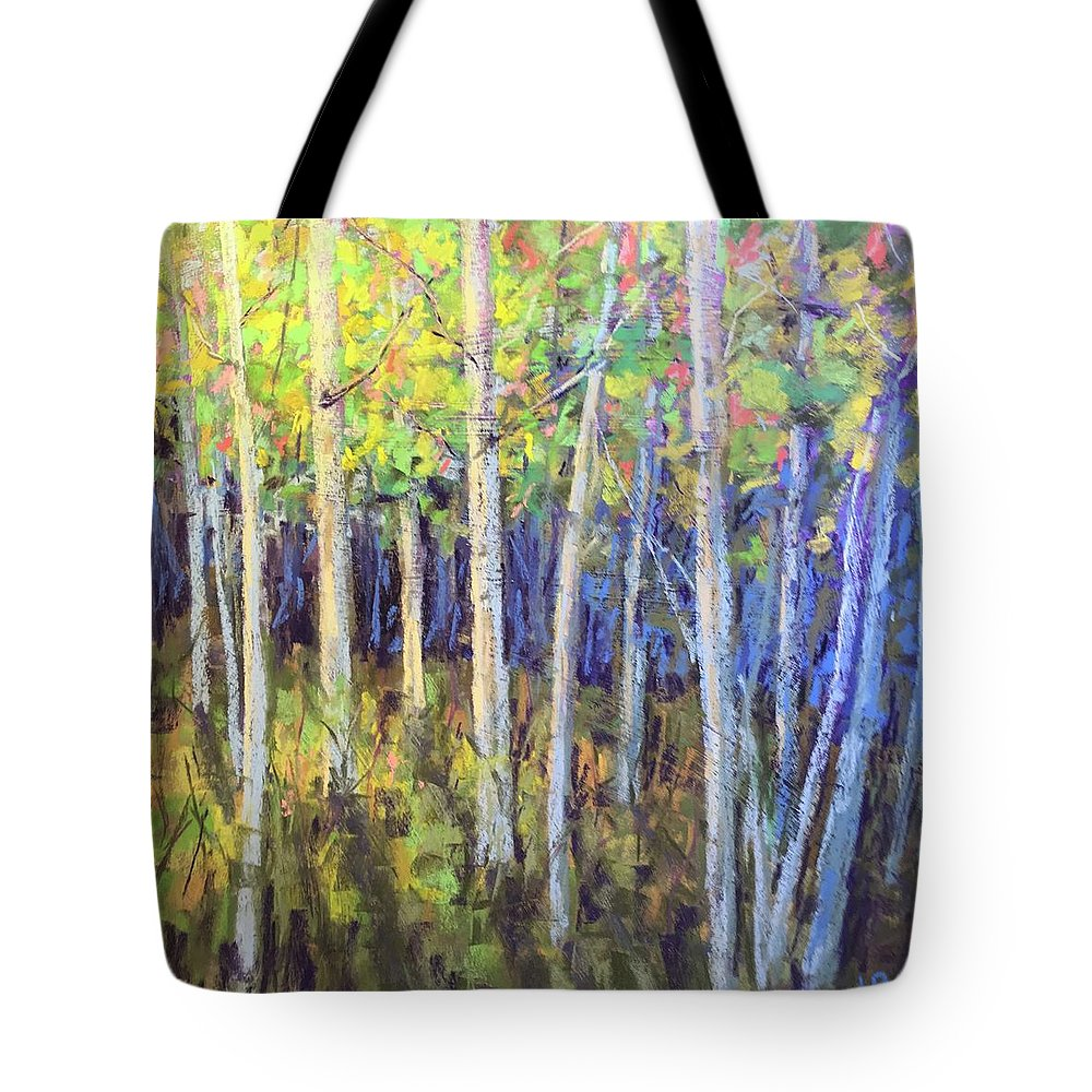 Tote Bag featuring the pastel Aspen IIi by Jared Gunnerson