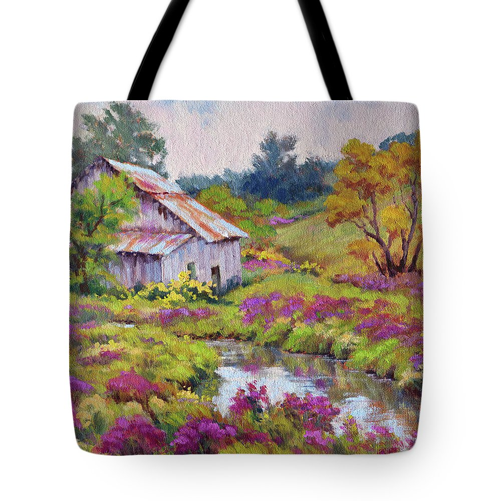 Impressionism Tote Bag featuring the painting Aster Time by Keith Burgess