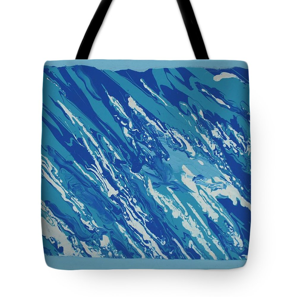 Peace Tote Bag featuring the painting At Peace by Sonye Locksmith