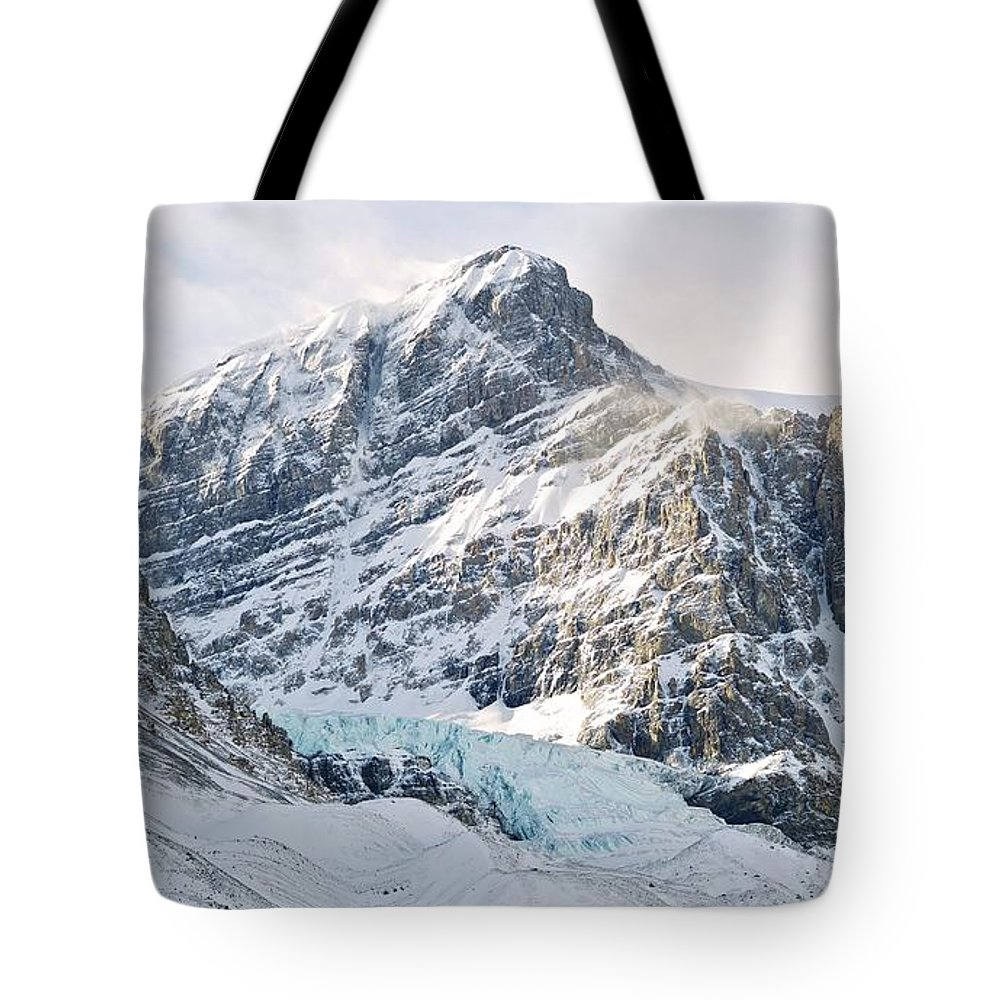 Snow Tote Bag featuring the photograph Athabasca Glacier by Dominik Eckelt