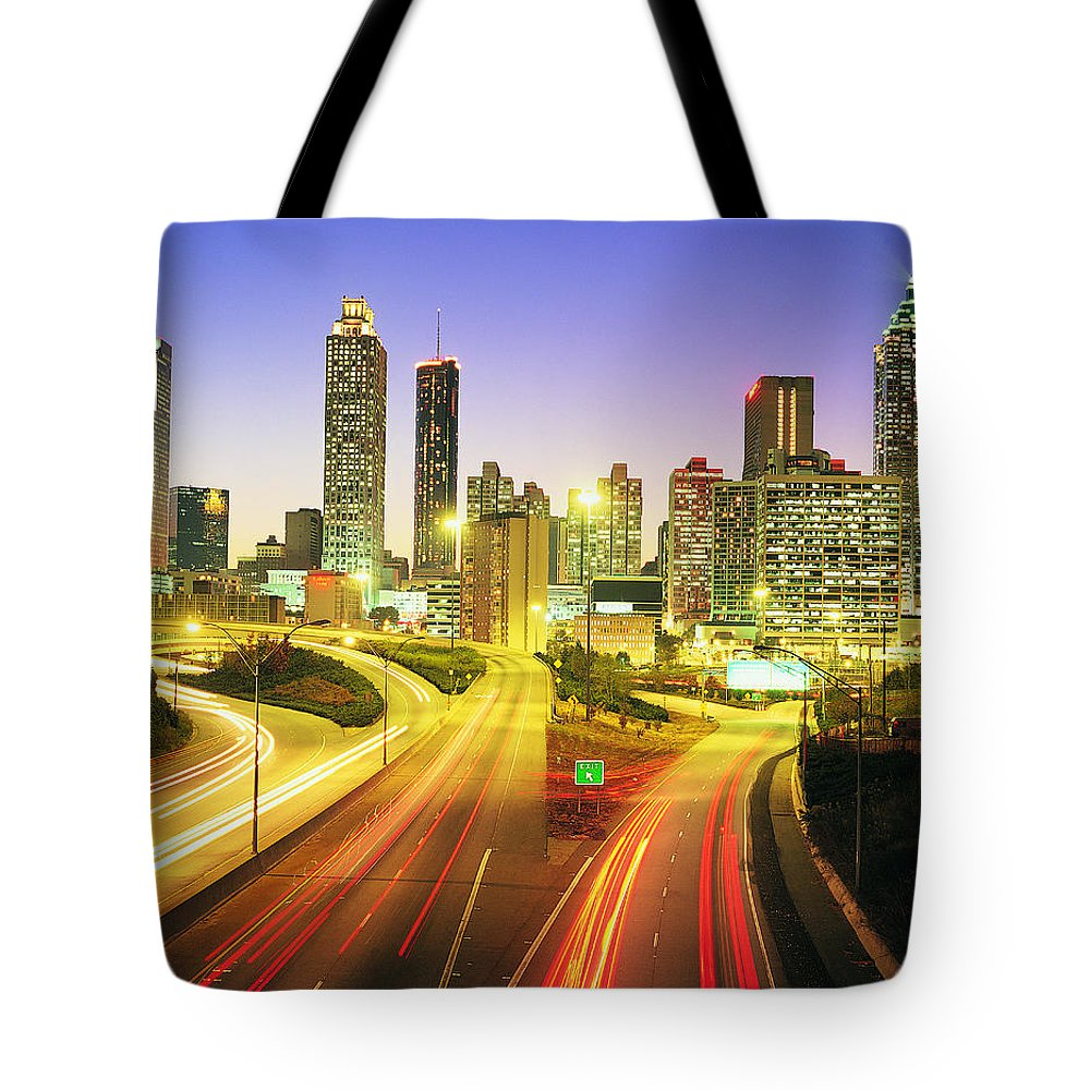 Atlanta Tote Bag featuring the photograph Atlanta Skyline, Georgia, Usa by Travel Ink