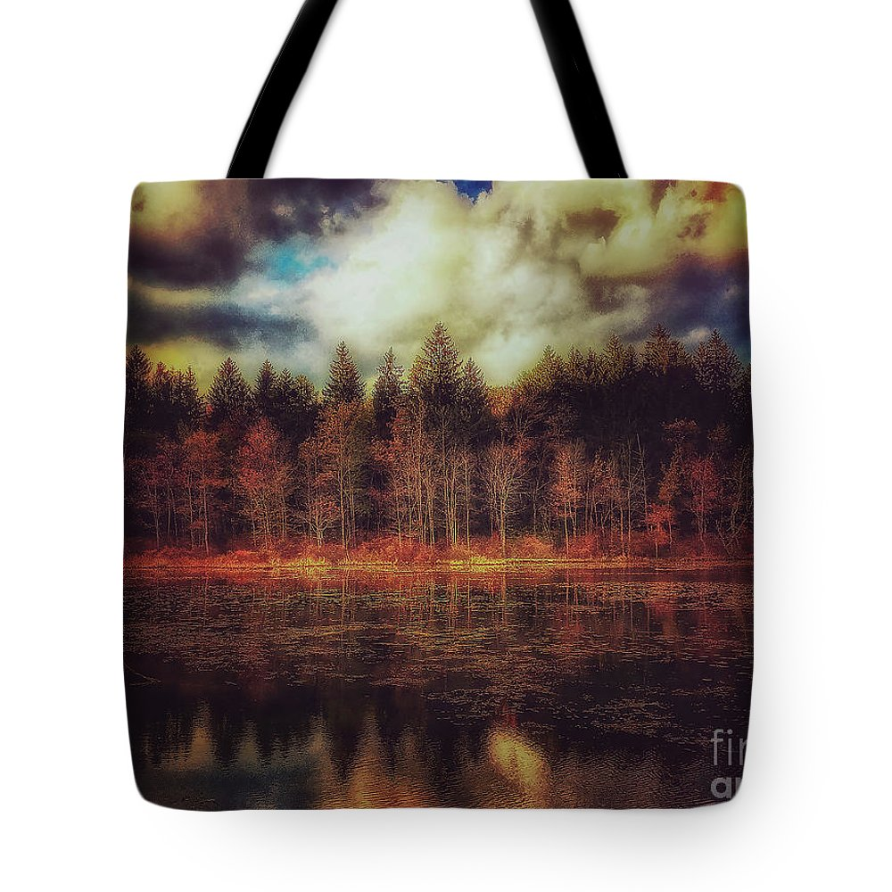 Lake Tote Bag featuring the photograph Autumn At The Lake by David Rucker